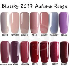 Bluesky AUTUMN RANGE 2017 UV LED Soak Off Gel Nail Polish Free Postage 10ml #bluesky nail#bluesky nail gel#bluesky nail polish#bluesky shellac#Shellac