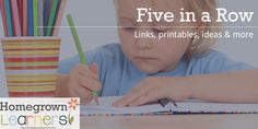 Review of Using Five in a Row for Homeschool | Links, Printables, and more