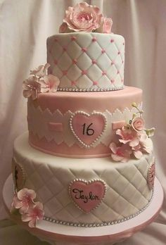 pink and white with quilting
