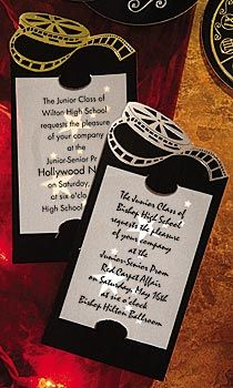 Hollywood themed party invitation Pinteres