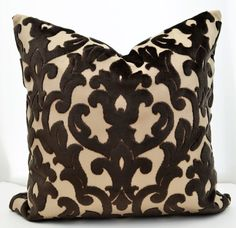 $49  (asked if god ) Brown Velvet  Pillow CoverBrown  Pillow Cover by LaletDesign
