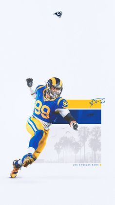 Los Angeles Rams on Shep Poster Sports Advertising, Sports Marketing, Advertising Design, Football Design, Football Art, Ram Wallpaper, Sports Graphic Design, Sport Design, Sports Art