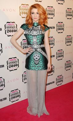 Nicola Roberts Puts Her Best Fashion Foot Forward In A Quiry Dress By BodyAmr, November 2010