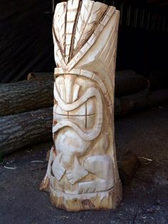 Here are a few of my recently carved tikis -- Tiki Central