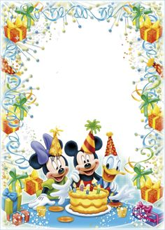 Foto effect van de categorie: Verjaardag. Happy Birthday Frame, Birthday Frames, Art Birthday, Birthday Photos, Theme Mickey, Mickey Mouse Birthday, Birthday Greetings, Birthday Wishes, Birthday Cards