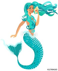 Mermaid clipart little mermaid clip art under the sea vector vector mermaid stopboris