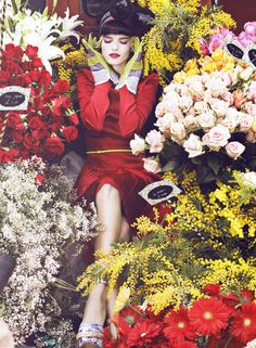 ❀ Flower Maiden Fantasy ❀ beautiful photography of women and flowers - Eliza for Vanity Fair Italia by Signe Vilstrup