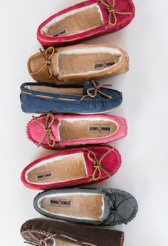 Look cool, stay warm in a cozy and colorful pair of Cally slippers.