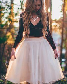 [Stephanie Danielle] ivory tulle skirt by Bliss Tulle