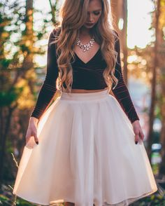 [Stephanie Danielle] ivory tulle skirt by Bliss Tulle