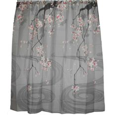 Hawaiian Fabric Shower Curtain Cherry Blossom Flower Shower Curtain | eBay