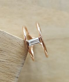 Rose gold plated on sterling silver ring with by AtelierAdelaideFR