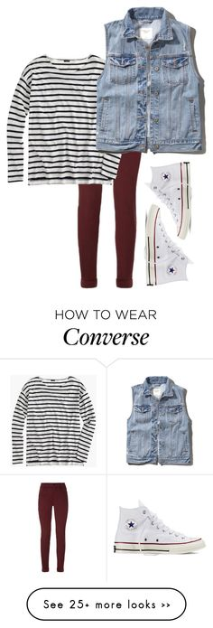 """Untitled #67"" by faresaulia on Polyvore featuring J Brand, J.Crew, Abercrombie & Fitch and Converse"