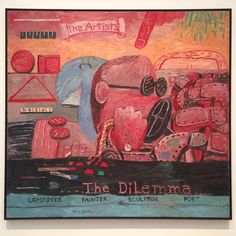 "Philip Guston - ""Allegory"" (1975), Saint Louis Art Museum."