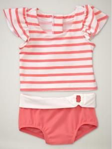 DO YOU HAVE THIS? baby gap from last season... coral striped rashguard.  want to pass it down to us or sell it?