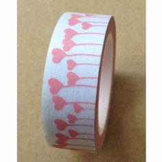 Washi Tape, Pink Flowers Washi Tape, Lovely Washi Tape, Pink Heart  Washi Tape