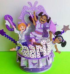 Slumber party Birthday cake topper for children pjs party