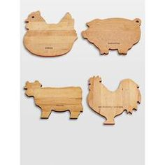 Personalized Animal Wood Cutting Boards