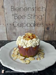 Bienenstich Bee Sting Cupcakes  |  Sweet Tea & Saving Grace These sound amazing! I can't wait to try them.