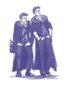 Les meilleurs des jumeaux Fred George Weasley, Harry Potter Fan Art, Harry Potter Fandom, Harry Potter Universal, Harry Potter World, Hogwarts, Detailed Drawings, Oliver Phelps, Percy Jackson