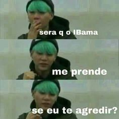 Read 010 from the story Tráfico de Memes [Kpop] by LikitaMarinho (Panda Noiada) with reads. Bts Memes, Bts Meme Faces, K Meme, Funny Memes, Foto Jungkook, Bts Suga, Bts Taehyung, Bts Bangtan Boy, K Pop