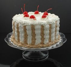 Fake Food Ice Cream Cake on Pedestal Tray