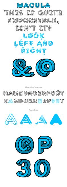 Macula, the impossible typeface    BvF Behance Macula 013 pic on Design You Trust