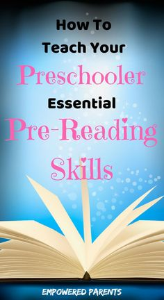 Learning to read is a process that starts when a child is very young. Learn how to use these simple activities to develop your child's auditory awareness, awareness of print and letter recognition. #emergentreading #prereading #teachyourpreschooler #empoweredparents
