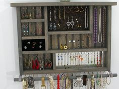 Jewelry Display Stand Earring Holder Rack Organizer Necklace Ring