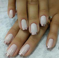 New glitter french manicure ideas beauty 47 ideas Glitter French Manicure, French Tip Nails, Gold Nails, Great Nails, Cute Nails, My Nails, Nail Polish Designs, Nail Art Designs, Nail Deco