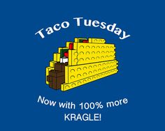 Lego Taco Tuesday - make a sign for the food bar