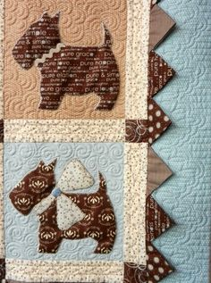 Perros patchwork Bitsy Button Friends pattern by Bunny Hill Designs
