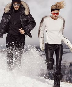 Luxury Magazine enlists fashion photographer Dean Isidro to capture Uncommon Cold story for their latest edition starring Fabienne Hagedorn and Ben Hill. Ski Fashion, Winter Fashion, Ben Hill, Ski Wear, Waterproof Winter Boots, Ski Season, Asos, Cold Weather Fashion, Plein Air