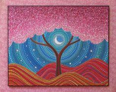 Colorful Print Laminated on woodblock Beautiful от ElspethMcLean