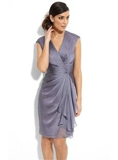 Love this short dress for the Mother of the Bride or Mother of the Groom!