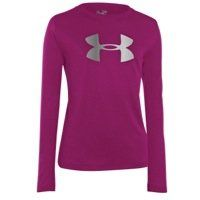 Kids Under Armour Girls Big Logo Tech Longsleeve, Strobe/Reflective/Open Purple, S, The Under Armour Big Logo Tech T-Shirt for girls is made with a lightweight Tech fabric that has a soft feel for superior comfort in and out of the gym. Signature Moisture Transport System wicks sweat..., #Sporting Goods, #Active Shirts & Tees High School Wardrobe, Small Wardrobe, Tech T Shirts, Tee Shirts, Athletic Outfits, Athletic Clothes, Girl Outfits, Cute Outfits, Under Armour Girls