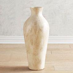 Marbleized Ivory Floor Vase