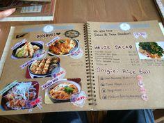 Handmade menus from Japanese restaurant on Provencher