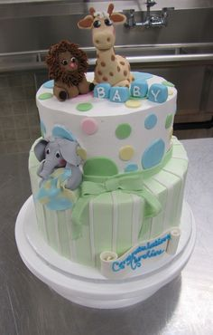 BUTTER CREAM FROSTING BABY SHOWER GIRAFFE CAKES IMAGES | Jungle Baby — Baby Shower