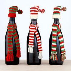 wine bottle scarves