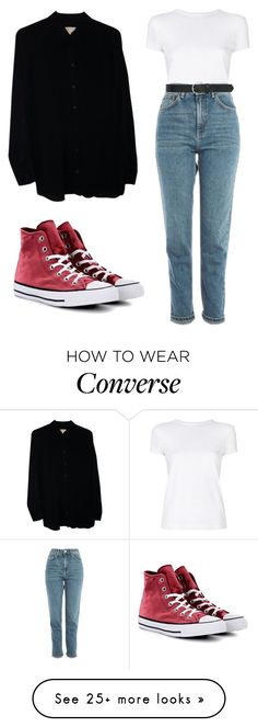 """""""Black & White"""" by gasconjamin on Polyvore featuring Michael Kors, Helmut Lang, Topshop, Converse and M&Co"""