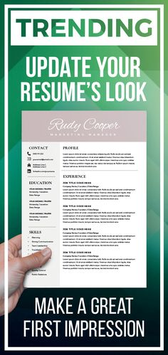 Professional Resume Template Instant Download, 1 / 2 Page Resume Template for MS Word, DIY Resume Template, Modern and Creative Design