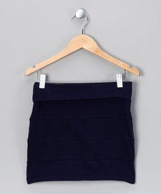 Take a look at this Navy Skirt by Fashion Points: Tween Trends on #zulily today!