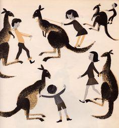 Who Ever Heard of Kangaroo Eggs? -written by Sam Vaughan, illustrated Leonard Weisgard (1957).