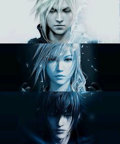 Final Fantasy -   Cloud  Lightning  Noctis
