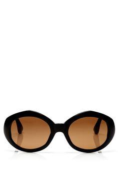 + Dries Van Noten Oval Acetate Sunglasses by Linda Farrow - Moda Operandi