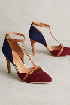 Beauties. The heel is too skinny for me (sigh). - ks   Lien.Do Mixed Media T-Straps #anthropologie