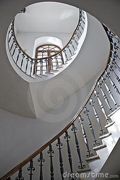 escalera espiral fotos de archivo imagen