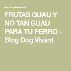 FRUTAS GUAU Y NO TAN GUAU PARA TU PERRO - Blog Dog Vivant