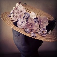 Canotier!!!! Do you like it??? Comments are welcome!! #fashion #fascinatorhats #fascinator #flowers #miami #style #hats #spain #canotier